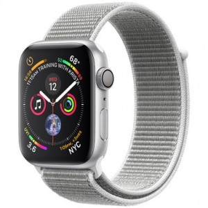 Apple Watch Series 4 40 mm (GPS) Silver Aluminum Case with Seashell Sport Loop (MU652)