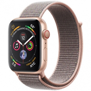 Apple Watch Series 4 44 mm (GPS + LTE) Gold Aluminum Case with Pink Sand Sport Loop (MTV12)