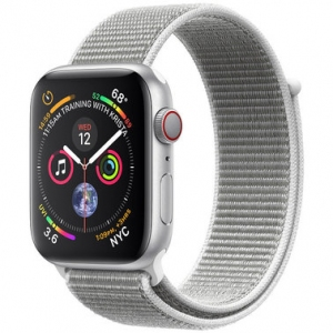 Apple Watch Series 4 40 mm (GPS + LTE) Silver Aluminum Case with Seashell Sport Loop