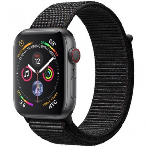Apple Watch Series 4 44 mm (GPS + LTE) Space Gray Aluminum Case with Black Sport Loop