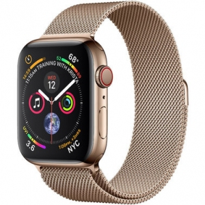 Apple Watch Series 4 40 mm (GPS + LTE) Gold Stainless Steel Case with Gold Milanese Loop (MTVQ2/MTUT2)
