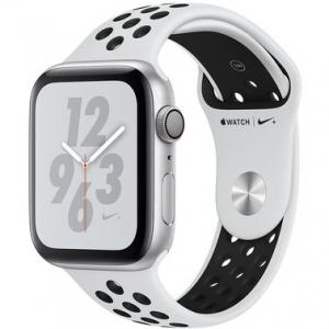 Apple Watch Series 4 Nike+ 40 mm (GPS) Silver Aluminum Case with Pure Platinum/Black Nike Sport Band (MU6H2)