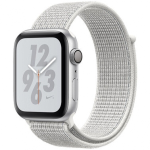 Apple Watch Series 4 Nike+ 44 mm (GPS) Silver Aluminum Case with Summit White Nike Sport Loop (MU7H2)