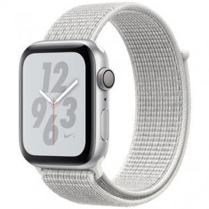 Apple Watch Series 4 Nike+ 40 mm (GPS) Silver Aluminum Case with Summit White Nike Sport Loop (MU7F2)