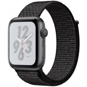 Apple Watch Series 4 Nike+ 40 mm (GPS) Space Gray Aluminum Case with Black Nike Sport Loop (MU7G2)