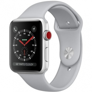 Apple Watch Series 3 42 mm (GPS + LTE) Silver Aluminum Case with Fog Sport Band (MQK12)