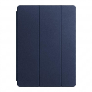 Обложка Apple Leather Smart Cover для iPad Pro 12.9 Midnight Blue (MPV22)