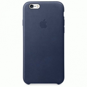 Чехол для Apple iPhone 6s Leather Case Midnight Blue (MKXU2)