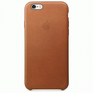 Чехол для Apple iPhone 6s Leather Case Saddle Brown (MKXT2)