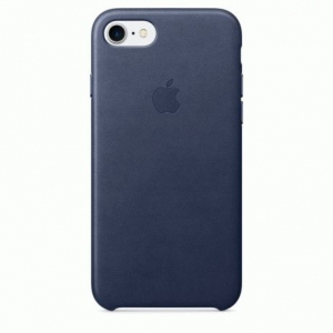 Чехол для Apple iPhone 7 Leather Case Midnight Blue (MMY32)