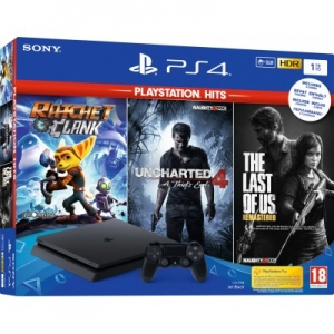 Игровая консоль Sony PlayStation 4 Slim 1TB + Ratchet & Clank + Uncharted 4: Путь вора + The Last of Us