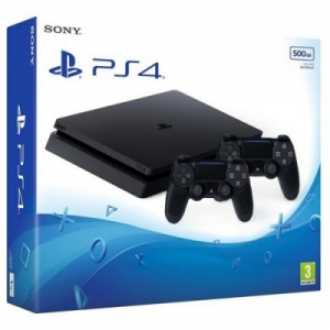 Игровая консоль Sony PlayStation 4 Slim 500Gb Black + Геймпад Sony Dualshock 4