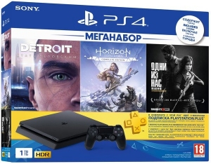 Игровая консоль PlayStation 4 Slim 1TB UA (Horizon Zero Dawn. Complete Edition + Detroit + The Last of Us + PSPlus 3М)