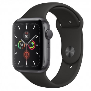 Apple Watch Series 5 44 mm (GPS) Space Gray Aluminum Case with Black Sport Band (MWVF2)