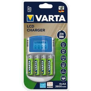Зарядное устройство для аккумуляторов Varta LCD charger + 4 * AA 2500mAh (57070201451)