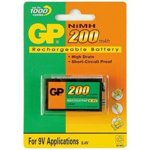 Аккумулятор Крона GP 200mAh * 1 GP (GP20R8H-2UE1)