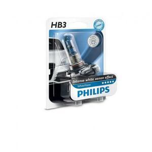 Автолампа PHILIPS HB3 WhiteVision +60%, 3700K, 1шт (9005WHVB1)