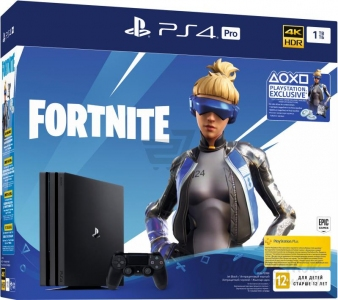 Игровая консоль Sony PlayStation 4 Pro 1TB Black + Fortnite