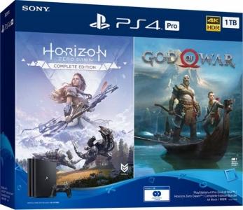Игровая консоль Sony PlayStation 4 Pro 1TB Black (God of War + Horizon Zero Dawn CE)