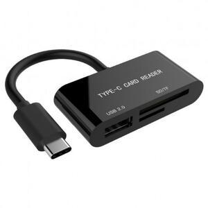 Считыватель флеш-карт GEMBIRD Type-C SD/TF + USB2.0 (UHB-CR3-02)