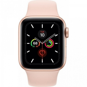 Apple Watch Series 5 40mm (GPS+LTE) Gold Aluminum Case with Pink Sand Sport Band (MWWP2)