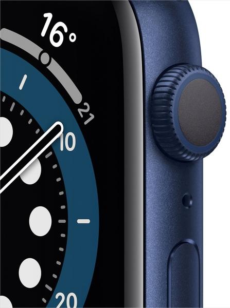 Apple Watch Series 6 44mm (GPS) Blue Aluminum Case with Deep Navy Sport Band (M00J3) - 6
