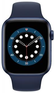 Apple Watch Series 6 44mm (GPS) Blue Aluminum Case with Deep Navy Sport Band (M00J3)
