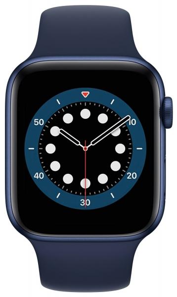 Apple Watch Series 6 44mm (GPS) Blue Aluminum Case with Deep Navy Sport Band (M00J3) - Apple Watch Series 6 44mm (GPS) Blue Aluminum Case with Deep Navy Sport Band (M00J3)