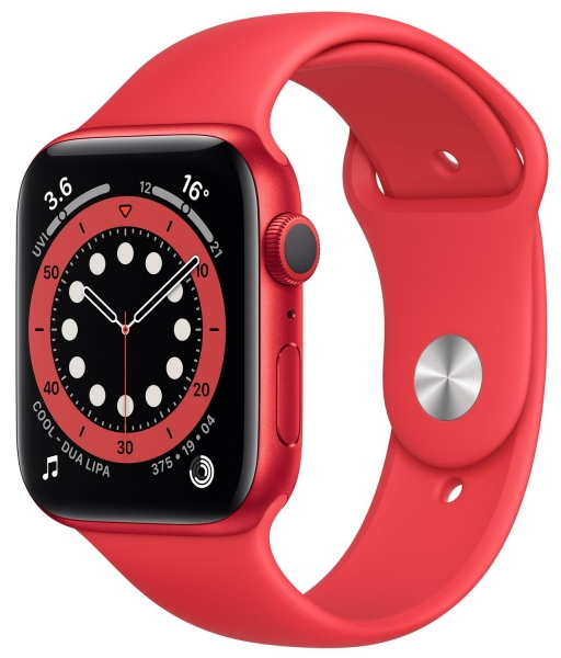 Apple Watch Series 6 44mm (GPS) Red Aluminum Case with (Product) Red Sport Band (M00M3) - 1