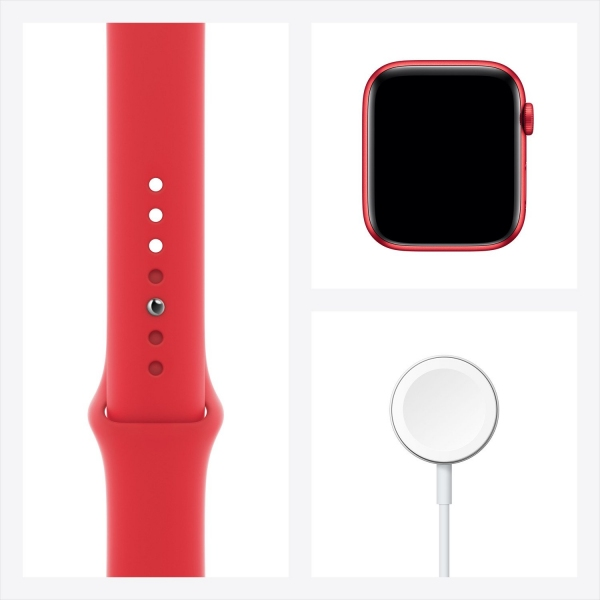Apple Watch Series 6 44mm (GPS) Red Aluminum Case with (Product) Red Sport Band (M00M3) - 3