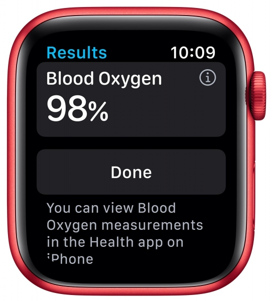 Apple Watch Series 6 44mm (GPS) Red Aluminum Case with (Product) Red Sport Band (M00M3) - 6