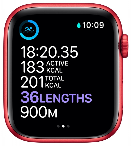 Apple Watch Series 6 44mm (GPS) Red Aluminum Case with (Product) Red Sport Band (M00M3) - 7