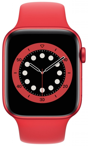 Apple Watch Series 6 44mm (GPS) Red Aluminum Case with (Product) Red Sport Band (M00M3) - Apple Watch Series 6 44mm (GPS) Red Aluminum Case with (Product) Red Sport Band (M00M3)