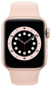 Apple Watch Series 6 40mm (GPS) Gold Aluminum Case with Pink Sand Sport Band (MG123)