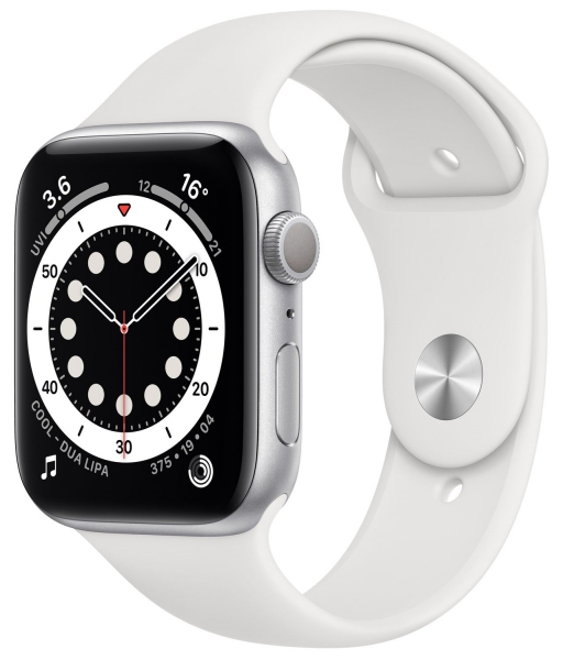 Apple Watch Series 6 40mm (GPS) Silver Aluminum Case with White Sport Band (MG283) - 1