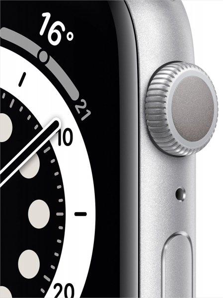 Apple Watch Series 6 40mm (GPS) Silver Aluminum Case with White Sport Band (MG283) - 4