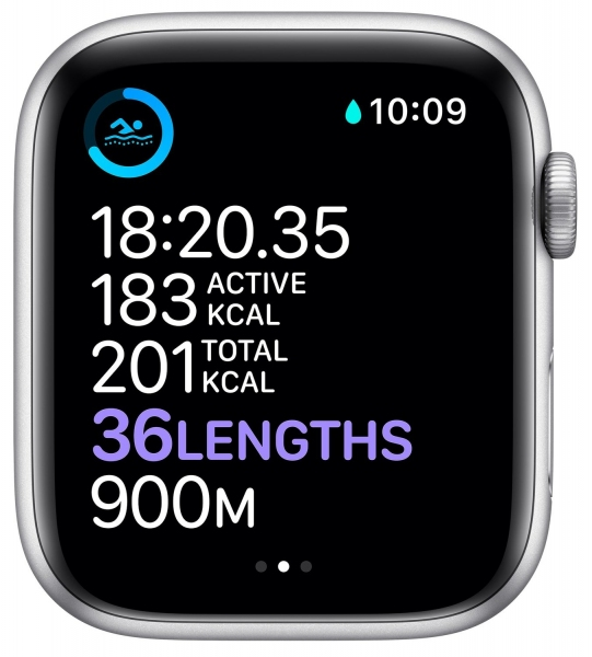 Apple Watch Series 6 40mm (GPS) Silver Aluminum Case with White Sport Band (MG283) - 5