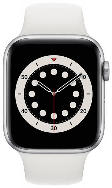 Apple Watch Series 6 40mm (GPS) Silver Aluminum Case with White Sport Band (MG283) - Apple Watch Series 6 40mm (GPS) Silver Aluminum Case with White Sport Band (MG283)