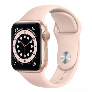 Apple Watch Series 6 40mm (GPS+LTE) Gold Aluminum Case with Pink Sand Sport Band (M06N3/M02P3)