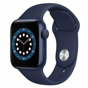 Apple Watch Series 6 44mm (GPS+LTE) Blue Aluminum Case with Deep Navy Sport Band (M07J3)