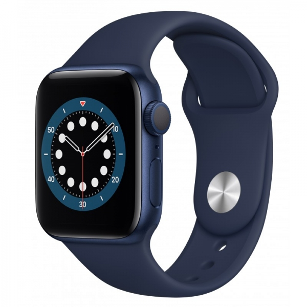Apple Watch Series 6 44mm (GPS+LTE) Blue Aluminum Case with Deep Navy Sport Band (M07J3) - Apple Watch Series 6 44mm (GPS+LTE) Blue Aluminum Case with Deep Navy Sport Band (M07J3)