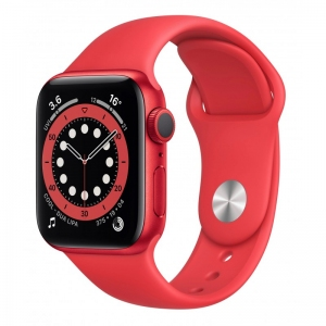 Apple Watch Series 6 44mm (GPS+LTE) Red Aluminum Case with (Product)Red Sport Band (M07K3/M09C3)