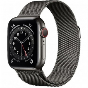 Apple Watch Series 6 40mm (GPS+LTE) Graphite Stainless Steel Case with Graphite Milanese Loop (MG2U3)