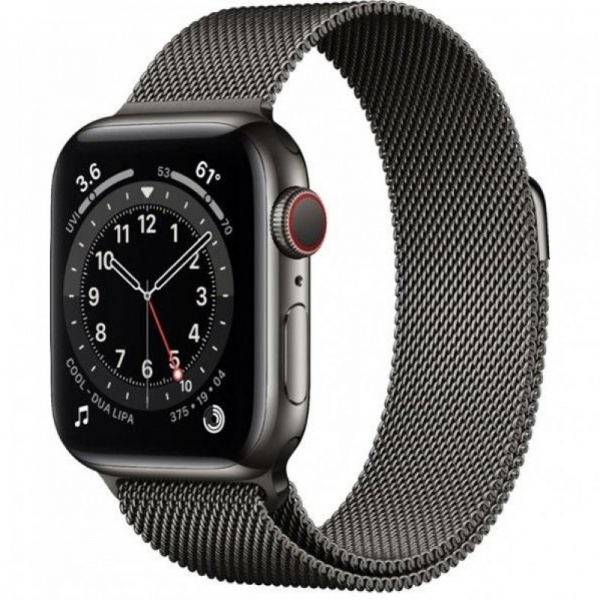 Apple Watch Series 6 40mm (GPS+LTE) Graphite Stainless Steel Case with Graphite Milanese Loop (MG2U3) - Apple Watch Series 6 40mm (GPS+LTE) Graphite Stainless Steel Case with Graphite Milanese Loop (MG2U3)