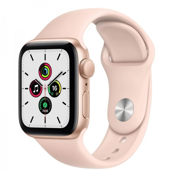 Apple Watch SE 44mm (GPS) Gold Aluminum Case with Pink Sand Sport Band (MYDR2) - Apple Watch SE 44mm (GPS) Gold Aluminum Case with Pink Sand Sport Band (MYDR2)