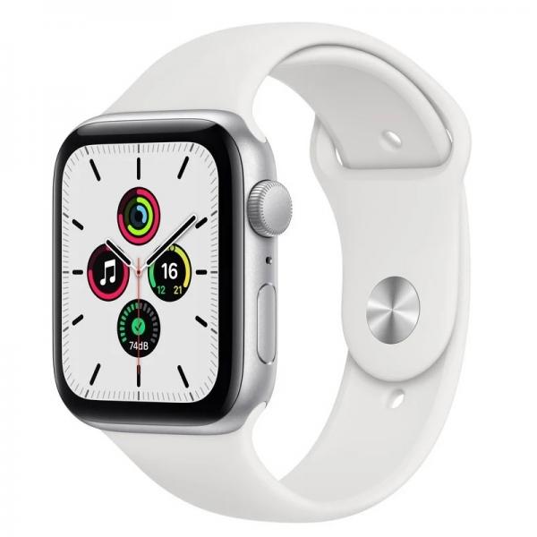 Apple Watch SE 40mm (GPS+LTE) Silver Aluminum Case with White Sport Band (MYE82/MYEF2) - Apple Watch SE 40mm (GPS+LTE) Silver Aluminum Case with White Sport Band (MYE82/MYEF2)