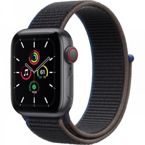 Apple Watch SE 40mm (GPS+LTE) Space Gray Aluminum Case with Charcoal Sport Loop (MYEE2) - Apple Watch SE 40mm (GPS+LTE) Space Gray Aluminum Case with Charcoal Sport Loop (MYEE2)